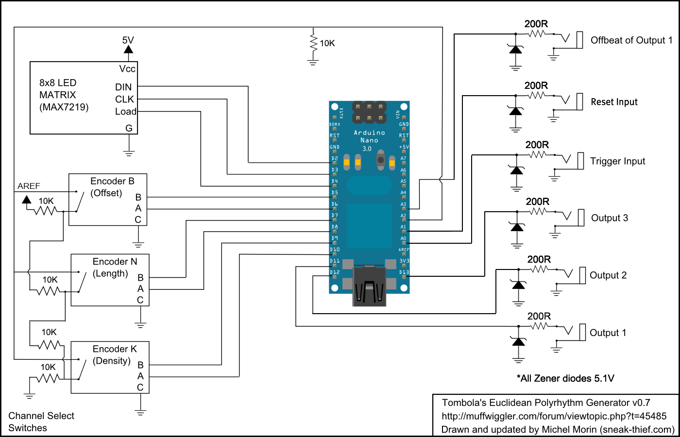 View Topic Diy Euclidean Polyrhythm Generator How To Build A Rotary Encoder Circuit With An Arduino Posted Image Might Have Been Reduced In Size Click Fullscreen